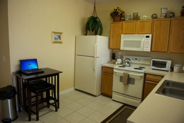 Kitchen with Laptop